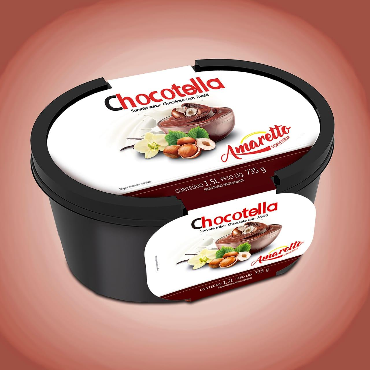 imagem de Sorvete Amaretto Chocotella 1.5L
