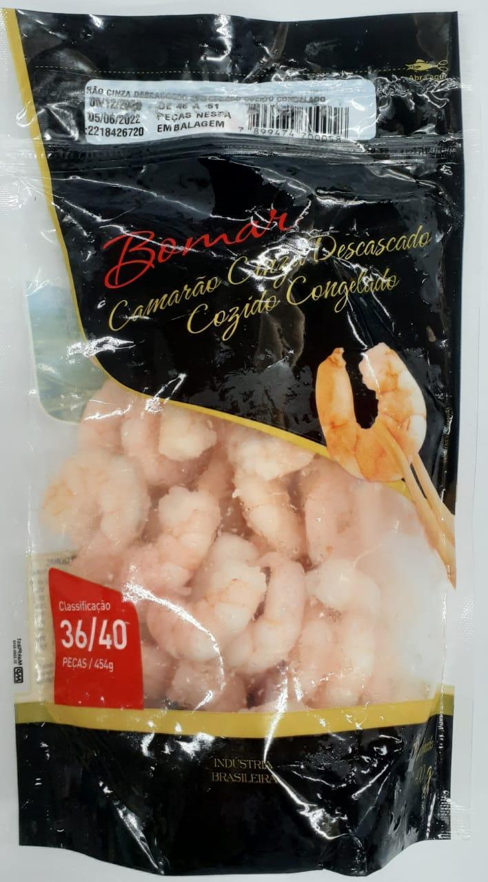 imagem de Camarão Bomar Cozido Congelado Descascado 36/40 400g