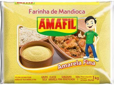 imagem de Farinha de Mandioca Amafil Amarela 1Kg
