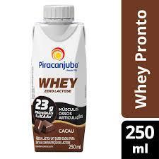 imagem de Bebida Láctea Piracanjuba Whey  Cacau 250ml