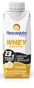 imagem de Bebida Láctea Piracanjuba Whey Banana 250ml